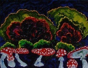 Toadstools. (Triptych - Bar forest, middle panel). ~ Другое