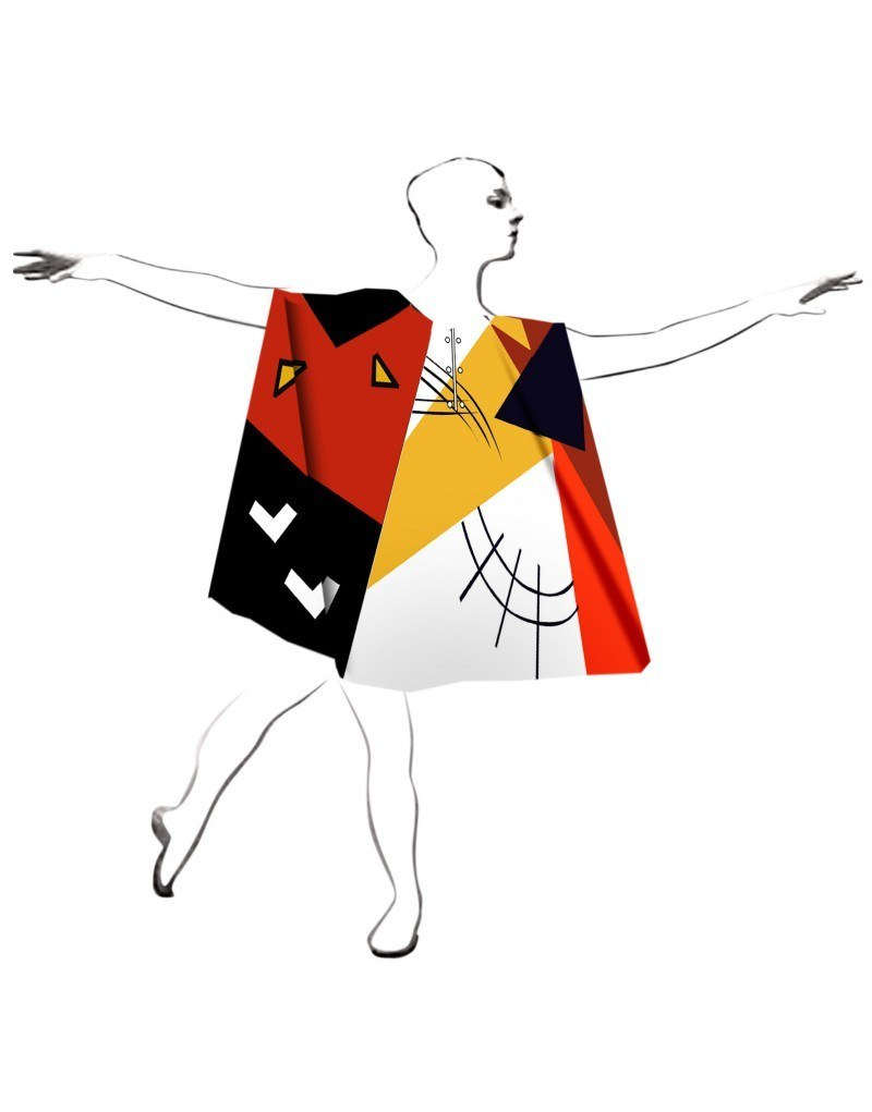 Принт для костюмов театральной группы Tanzhaus nrw