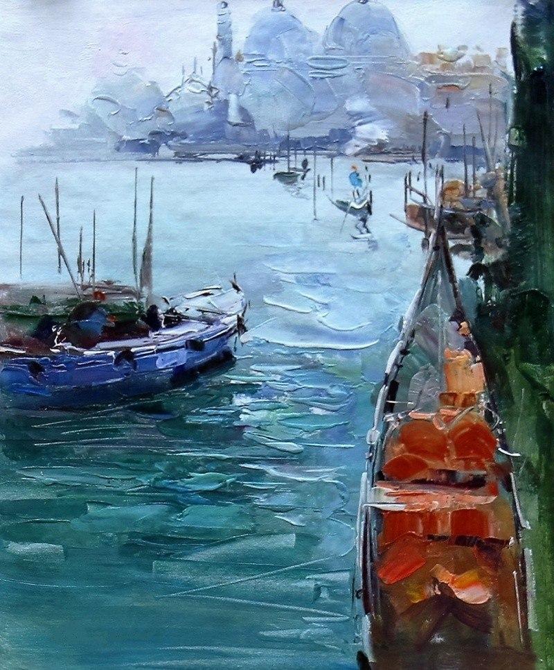 Венеция. Гондолы на Гранд-канале N2