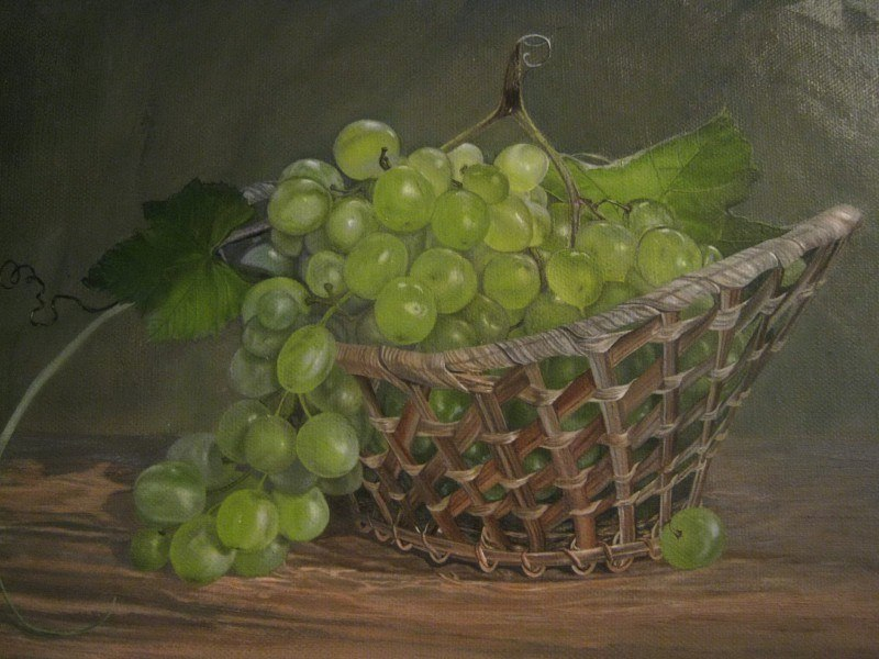 Натюрморт с виноградом (фрагмент)