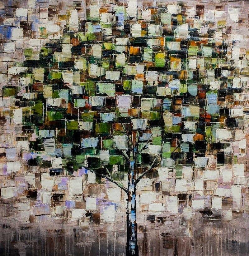 Дерево. Основной зеленый