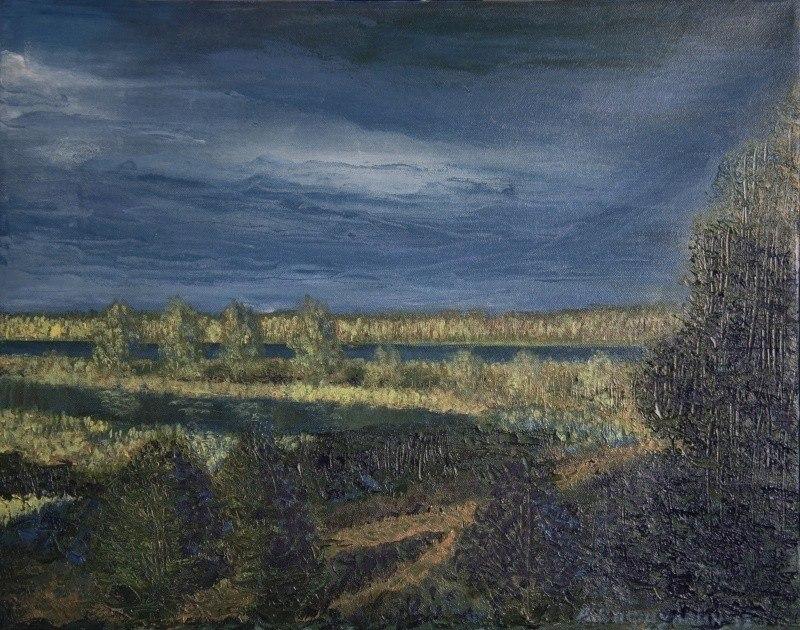 Река Лиелупе. Перед грозой