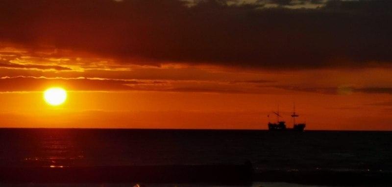 Закат на Баренцевом море.