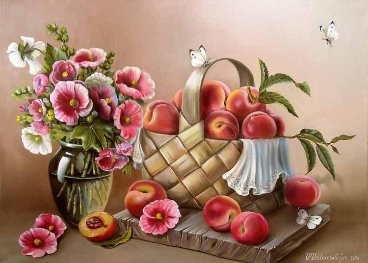 В персиковых тонах