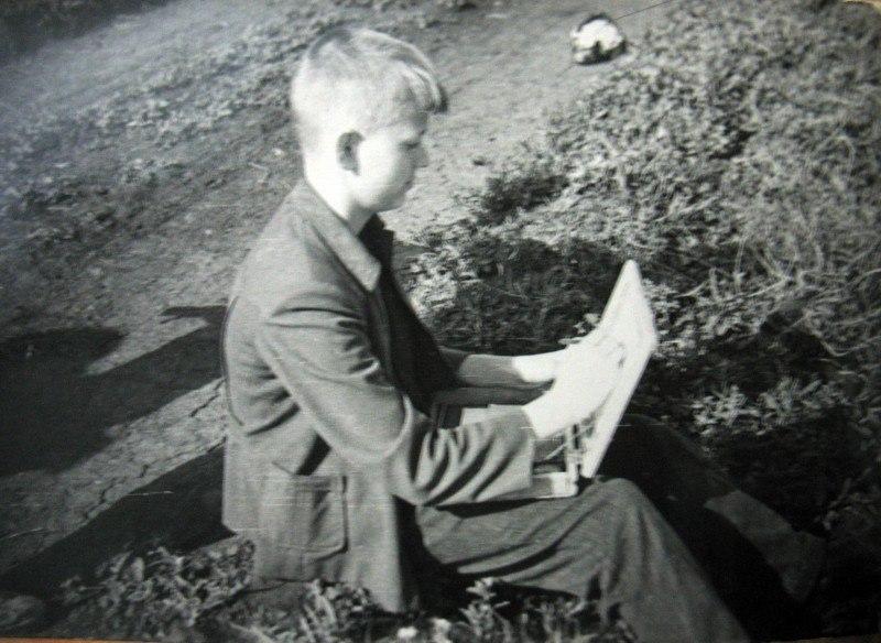 Юный художник. 1957г.