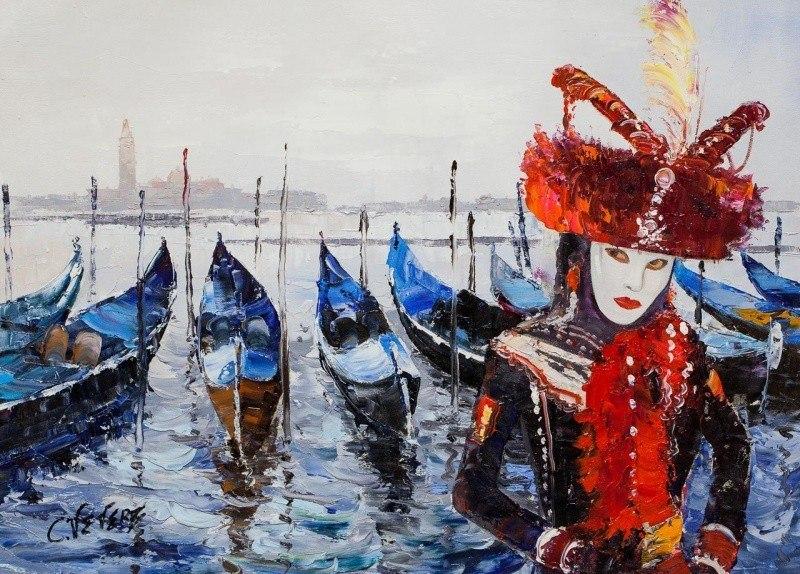 Венеция. Маски веницианского карнавала N2