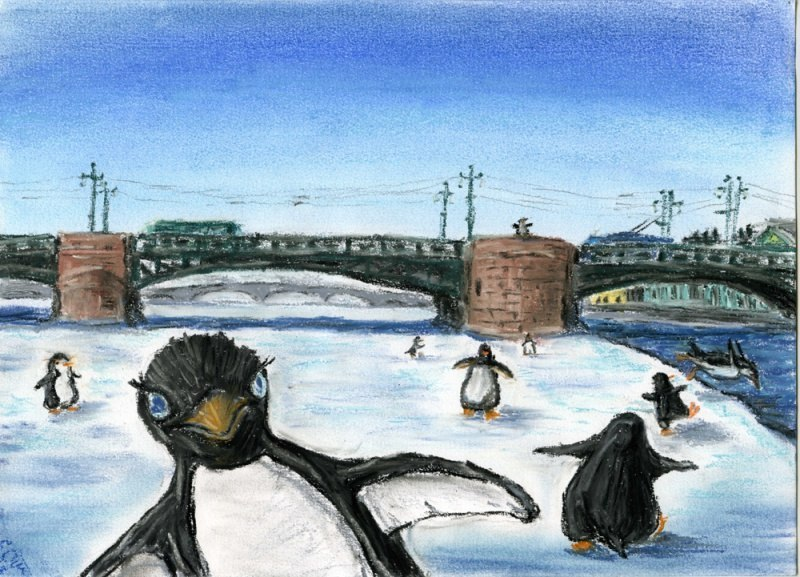 Пингвины на Неве!!!