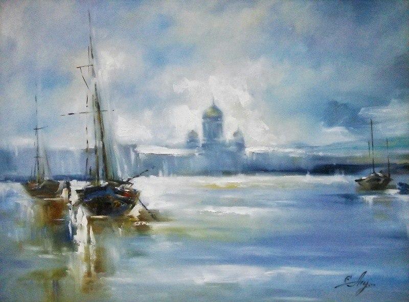 Ветренный день в Петербурге