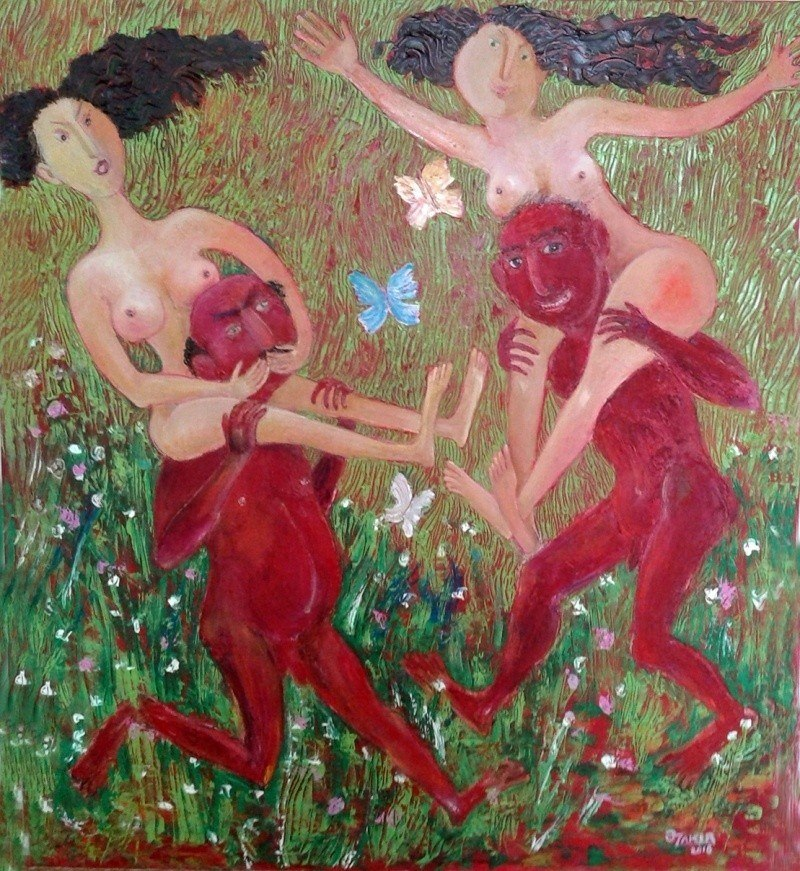 .Springtime 2016 Original Painting Oil on Canvas 90x80sm