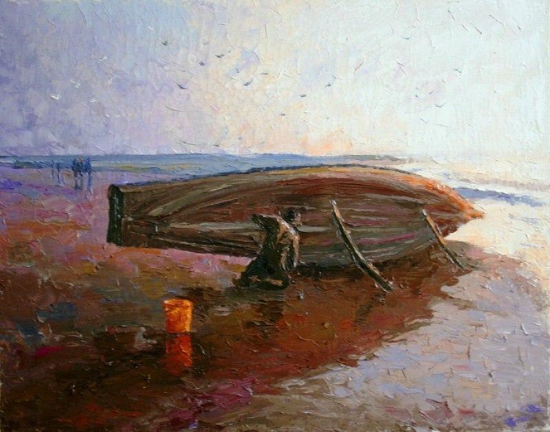 Гоа. Лодка