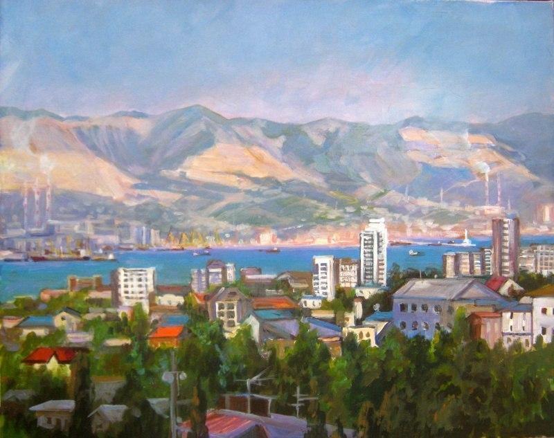 Новороссийск ,вид из окна