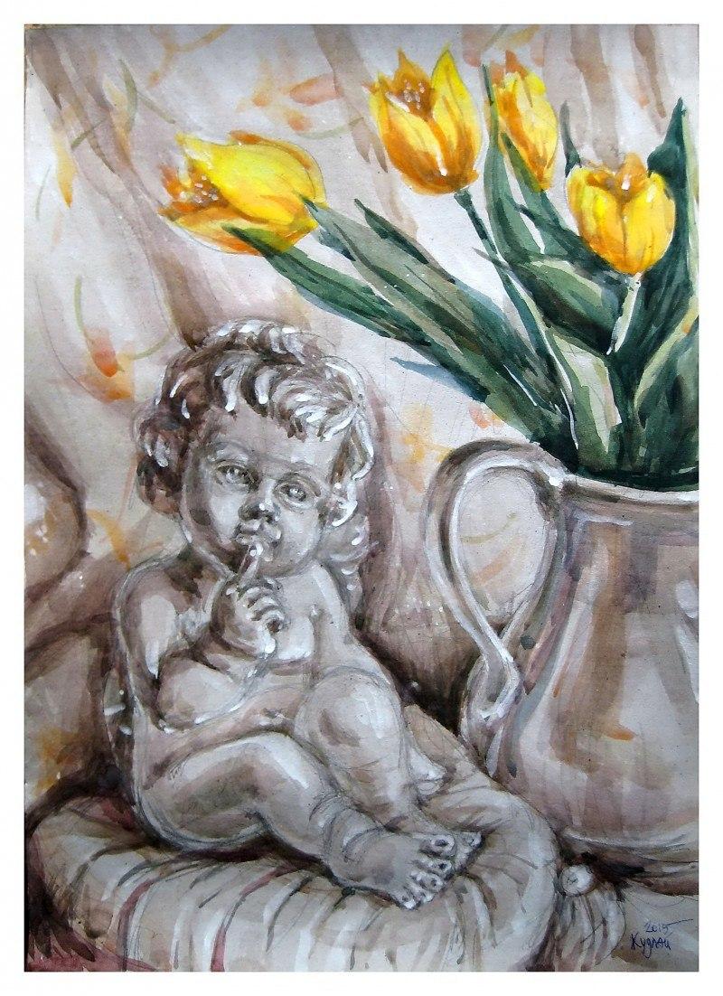 Тюльпани _акварель2015