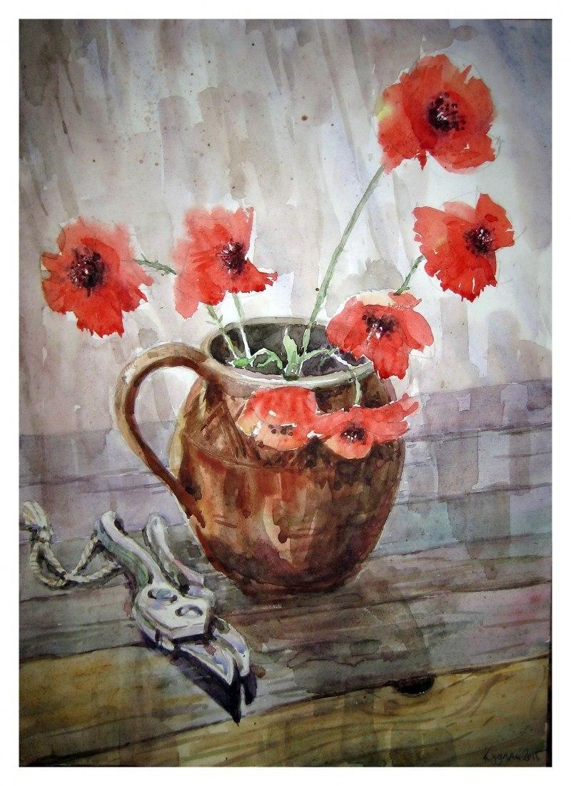 Зрізані квіти маку
