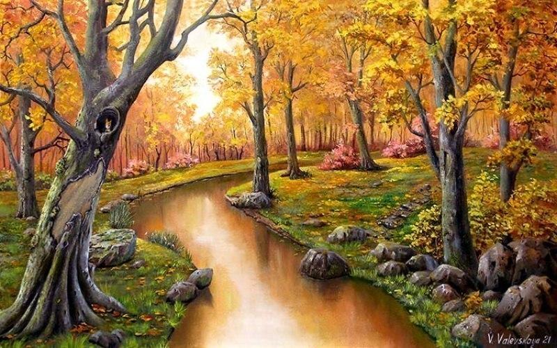 осень на речке