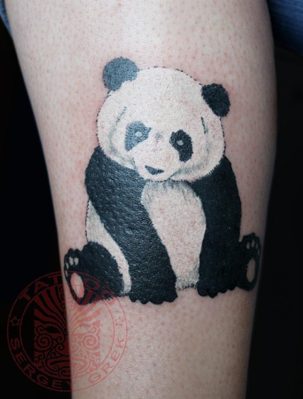 panda tattoo  eBay