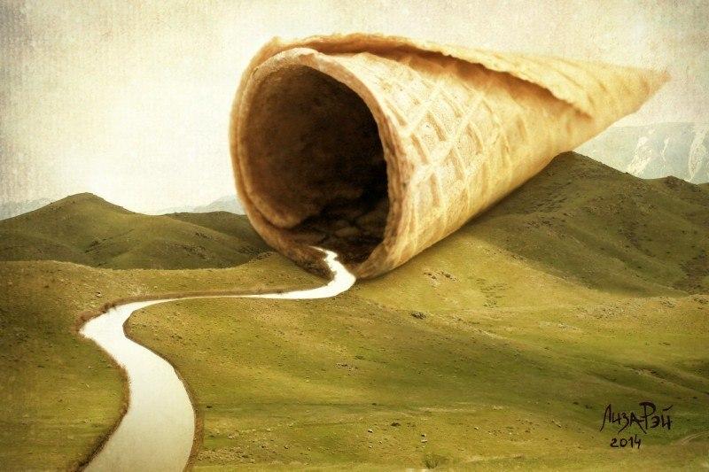 Креативное мороженое - Река