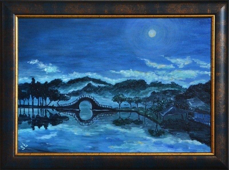 Синяя ночь.
