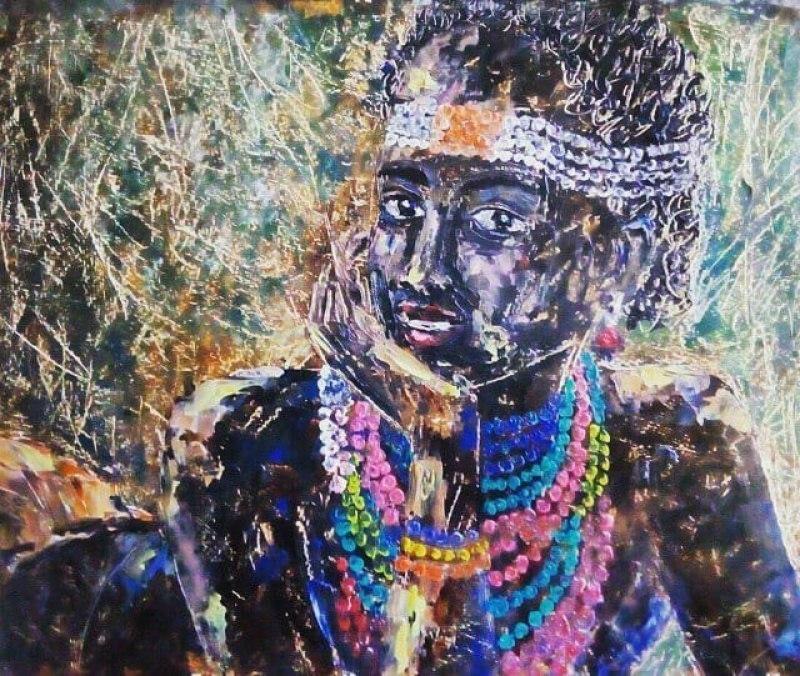 """""""Девушка из племен Намибии"""""""