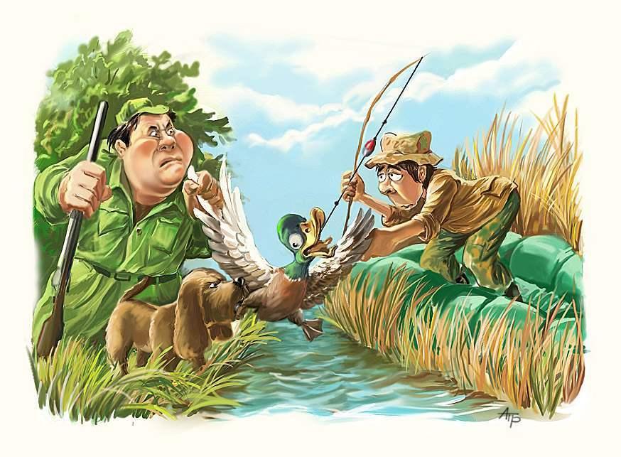 Картины открытки о рыбалке 47