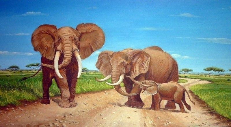 Слоны в саване