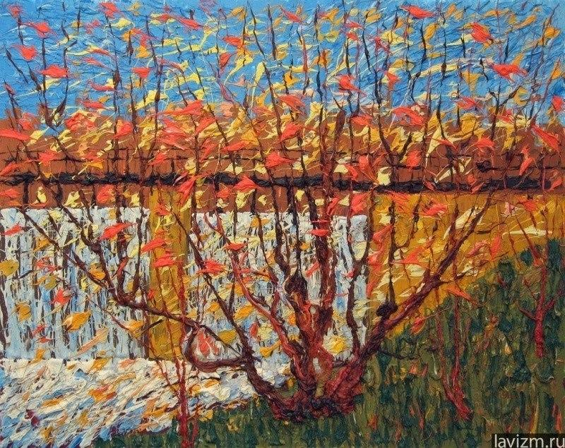 Картина Плотина Троицк (Москва) импрессионизм
