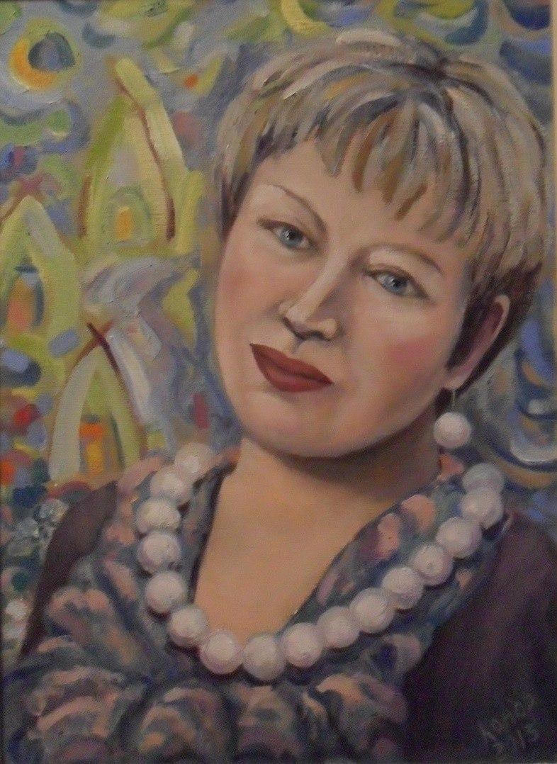 Портрет Татьяны на фоне картины Л. Арбачаковой