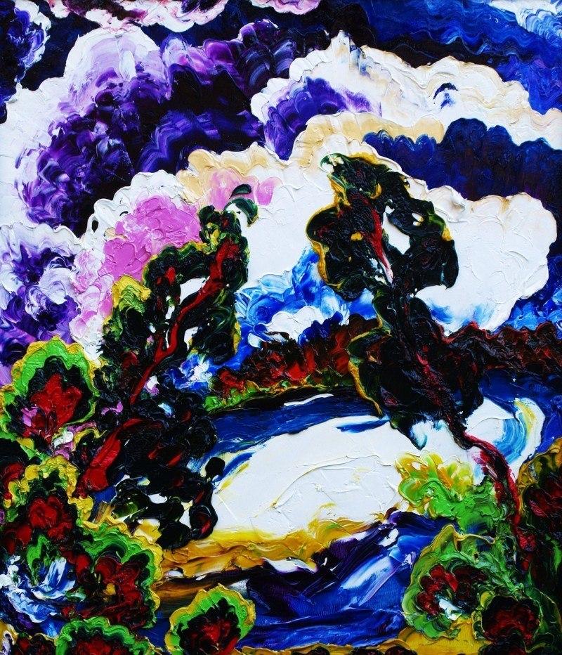 "Омут (Очёрский пруд, левая часть триптиха ""Барский лес"")"