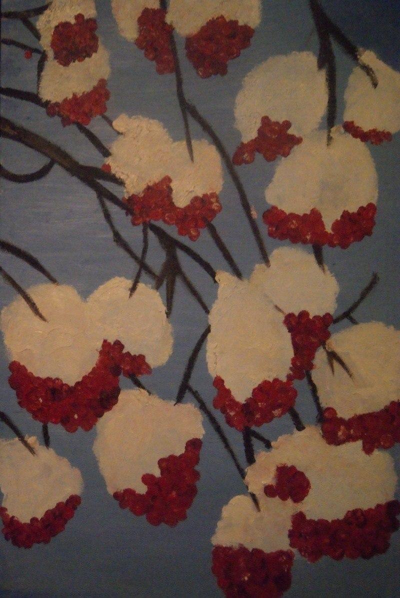 Зимние ягодки рябинки