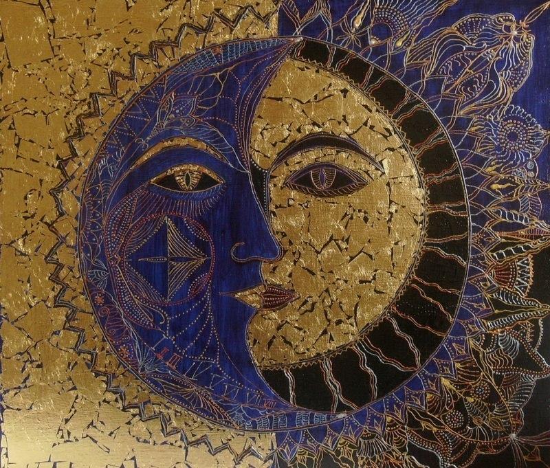 Луна и солнце.
