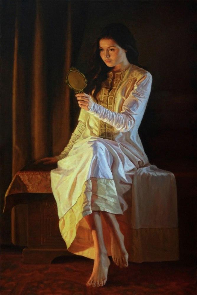 Девушка с зеркальцем