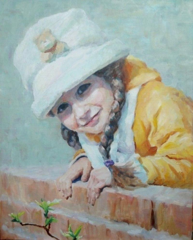 Девочка в желтой курточке