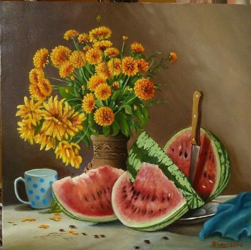 ,,натюрморт с арбузо,)