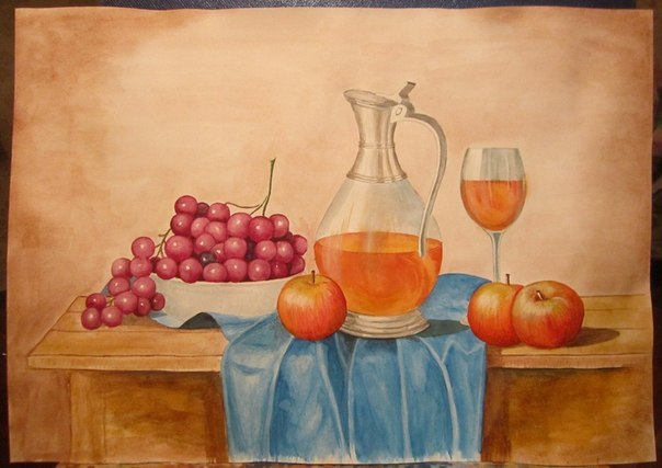 Натюрморт с вином 1