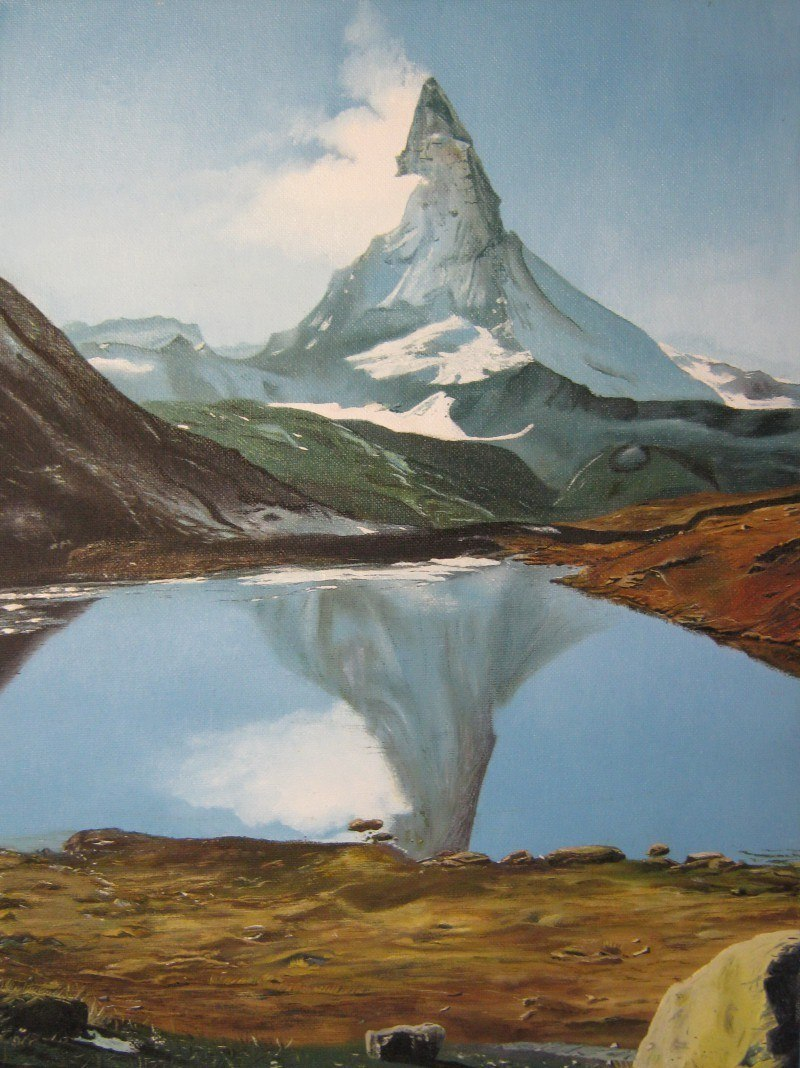 Гора Маттерхорн. Швейцарские Альпы.