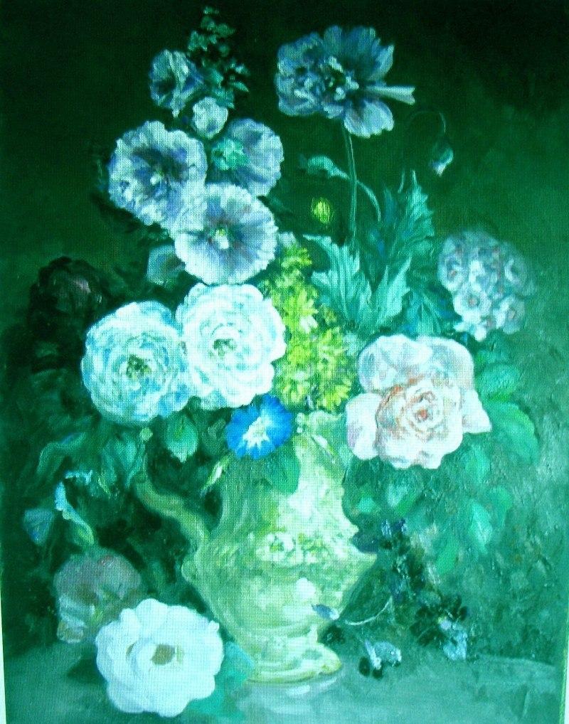 Зелёные цветы.