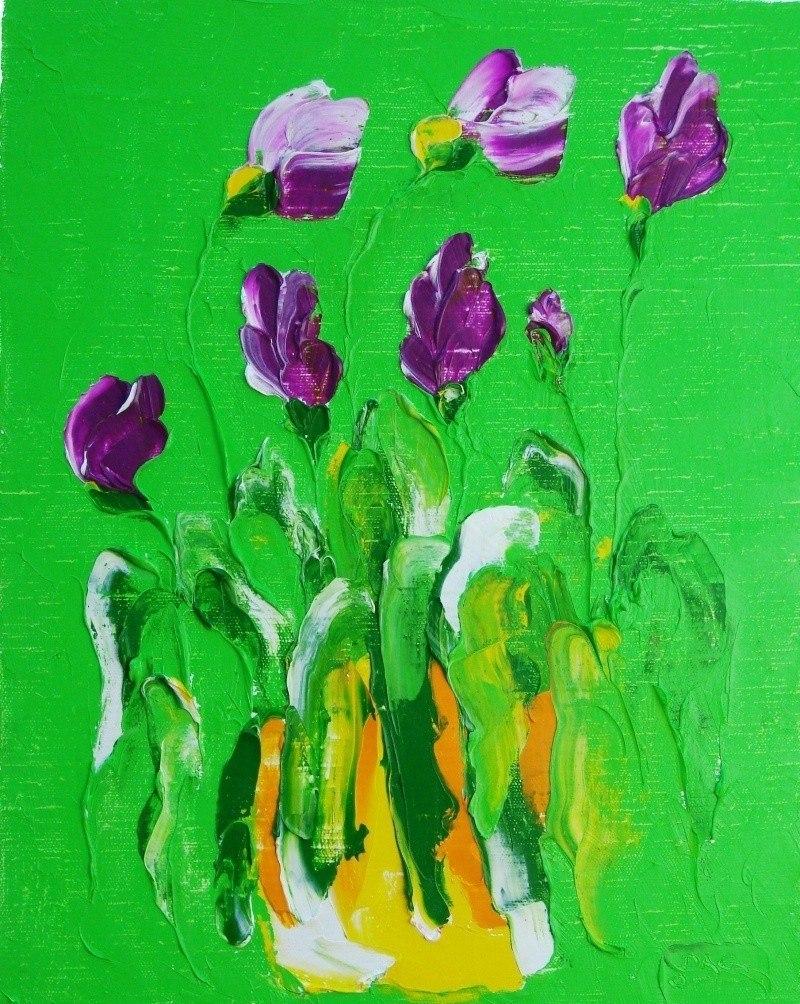Wild irises.