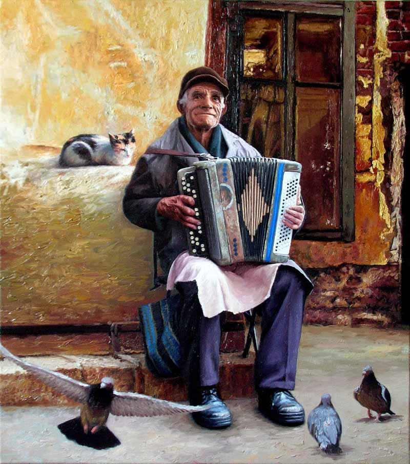 Молдавский гармонист, добрая душа.