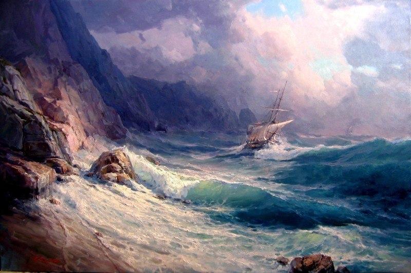 Кораблекрушение у скалистых берегов