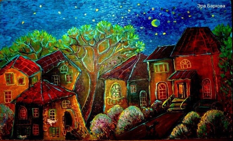 Дорога домой в сиреневый вечер