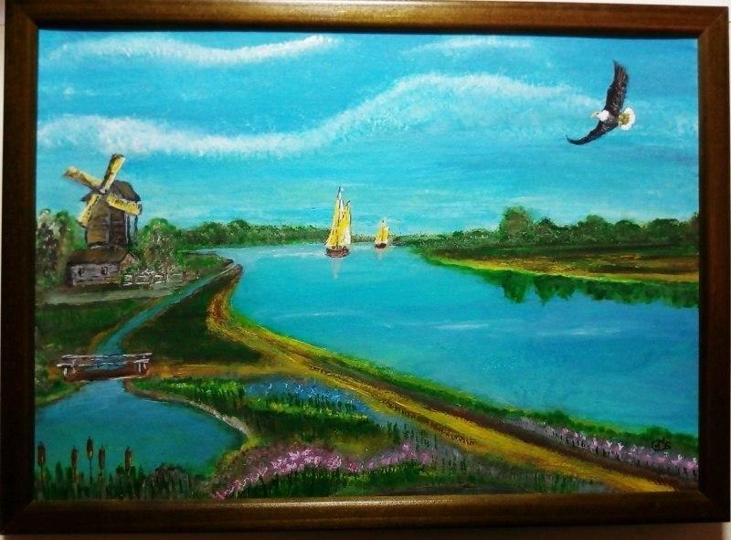 Шелест крыльев  над поймой реки нарушал тишину