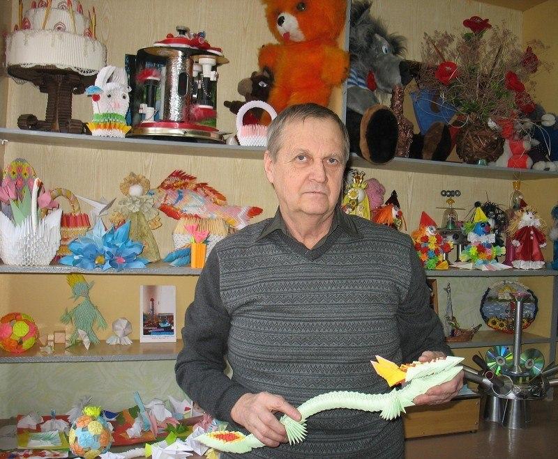 Мастер оригами Борис Лесняк