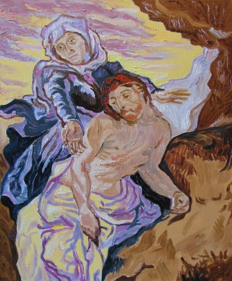 Пьета. Копия картины Ван Гога