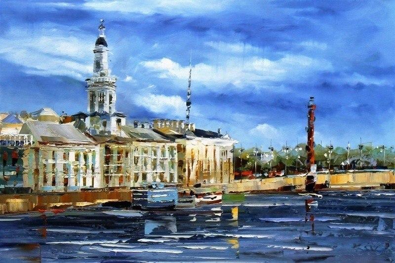 Санкт-Петербург. Вид на Кунтскамеру с Невы