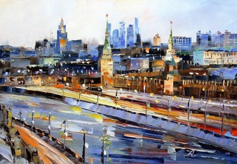 Вид на Кремль через Москва-реку N2