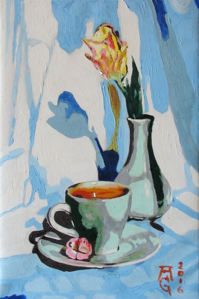 Тюльпан и кофе