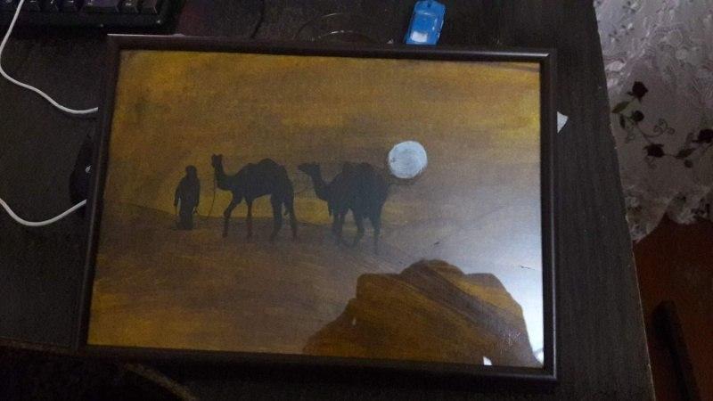 На закате  Пустыня