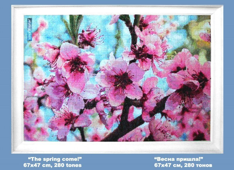 """""""Весна пришла!""""  вышивка крестиком"""