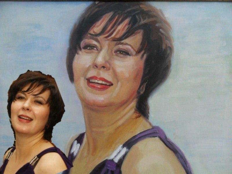 Женский портрет по фото, холст, масло