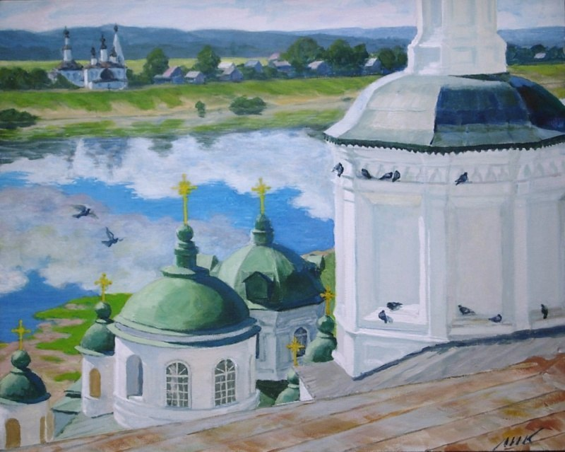 Великий Устюг. Вид с колокольни Успенского собора.