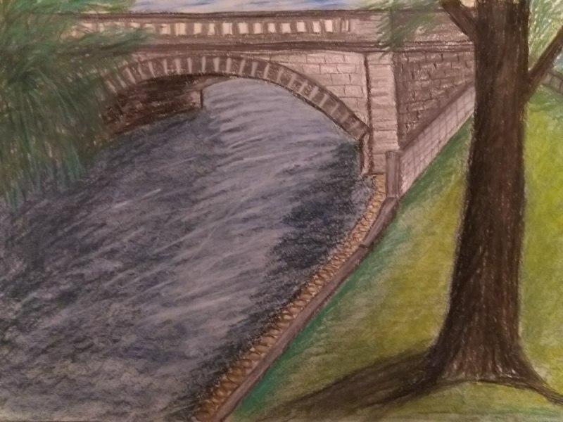Мост в рижском парке